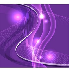 Wave line burst purple background vector