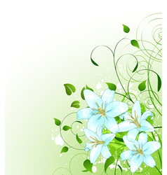Spring background vector