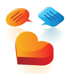 Love conversation icons vector