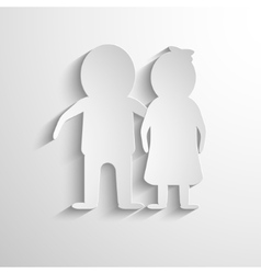 Paper cut man and woman vector