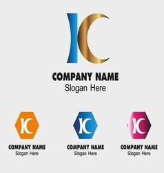 Kc letter logo symbol - k letter vector
