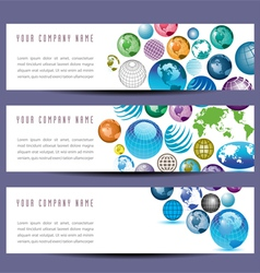 Globe banners 8976 vector