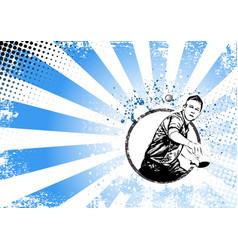Ping pong poster vector