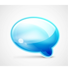 Blue glossy chat box vector