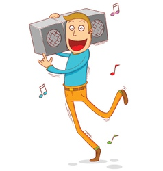 Anywhere anytime music vector