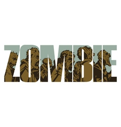 Zombie sign vector