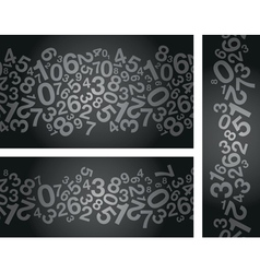 Black number background vector