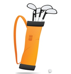 Bag with golf equipment vector