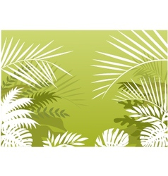 Tropical palm background vector