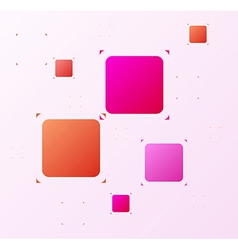 Rounded squares and spiked corners vector