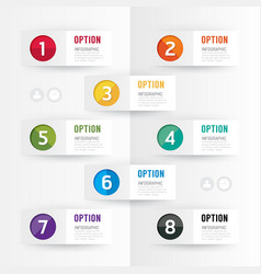 Modern infographics design options banner vector