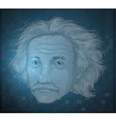 Human face of an old man vector