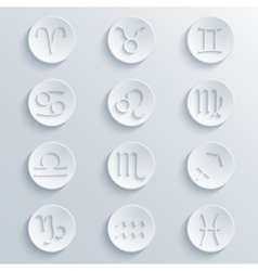 Modern signs of the zodiac circle icons vector