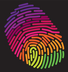 Finger print rainbow vector