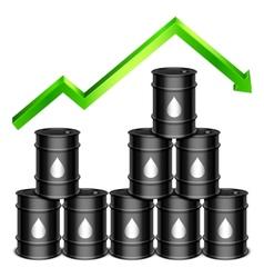 Rising oil price concept vector