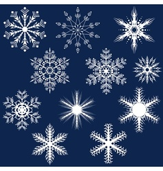 Snowflake set vector