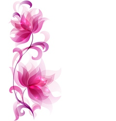Flower decorative vector
