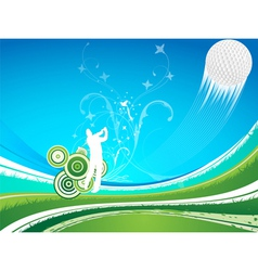 Driving golf background vector