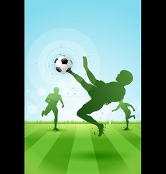 Soccer background with three players vector