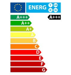 European union energy new label vector