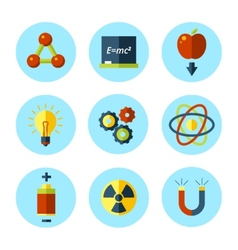 Physics icon set in modern flat style vector