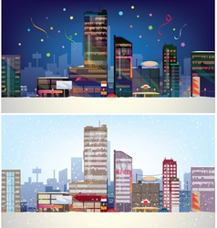 City winter vector