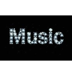 Diamond word music vector