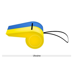 A blue and yellow whistle of ukraine vector