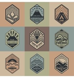 Mount badge set1color1 vector