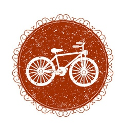 Vintage sign with bicycle vector