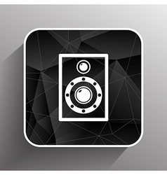 Icon audio speaker sound wave symbol vector