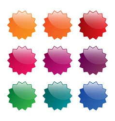 Colorful blank labels vector