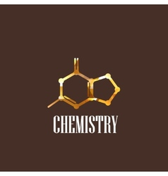 With molecular icon chemistry concept vector
