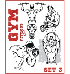 Gym bodybuilding - fitness club vector