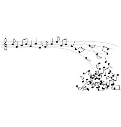 Black notes vector