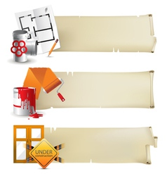 Repair paper banners vector
