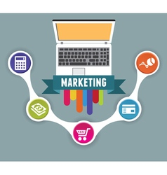 Concept of internet marketing vector