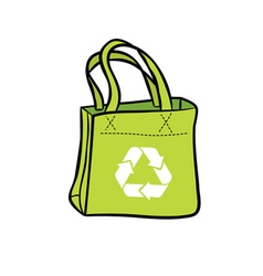 Recycle shopping bag vector