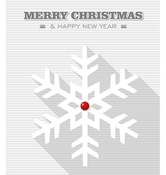 Merry christmas red dot snowflake vector