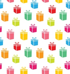 Seamless pattern of colorful simple gift boxes vector