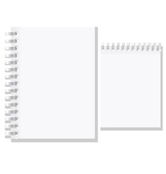 Set of white blank notebook vector