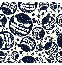 Halloween bomb seamless pattern vector