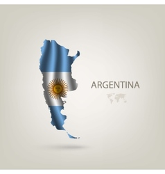 Flag of argentina as a country vector