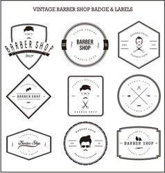 Vintage barber shop badge labels vector