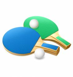 Table tennis gear vector