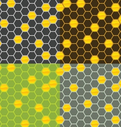 Seamless honey comb pattern vector