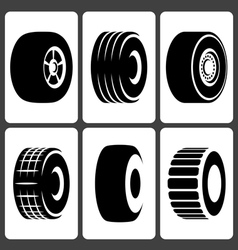 Tire icons set vector