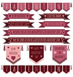 Valentine ribbons vector