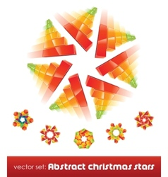 Collection of impossible christmas snowflakes vector