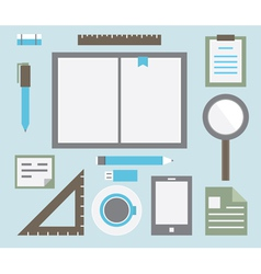 Workplace with tools vector